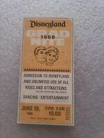Vintage 1969 Disneyland Grad Nite Ticket
