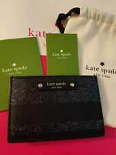 Kate Spade Card Holder Graham Haven Lane Black Glitter Wallet WLRU3222 $49