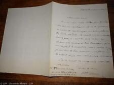1877.Lettre  autographe..Hippolyte Piron (Cuba)
