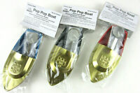 3X POP-POP Boat GOLD Putt Vtg Retro style Tin Litho Candle/Steam Power New ponyo