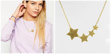 Fashion Elegant Punk *4 Star* Pendant 14K Gold GP Necklace