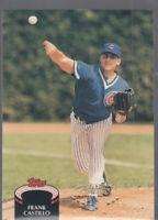 FRANK CASTILLO 1992 Topps Stadium Club #65 Cubs Error Oddball Misaligned Foil