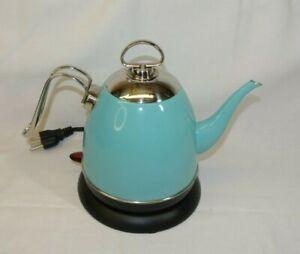 Chantal Mia Ekettle Electric Water Kettle, 32 ounce Teal Aqua Blue YK-810M 1L