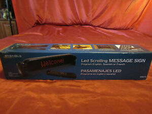 LED Scrolling Message Sign Board Programable Scrolling in 3 Languages 16.5 x 3.5