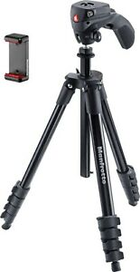 Manfrotto [MKSCOMPACTACN] 61 inch Compact Action Smart Tripod - Black