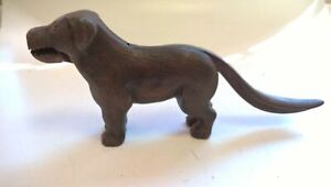 Vintage Antique Cast Iron Dog Nutcracker Patent 273480 #659