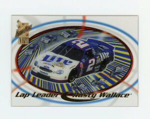 Rusty Wallace 1998 Press Pass VIP Lap Leader Insert Clear Acetates Parallel Card