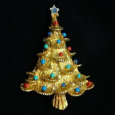 Christmas Tree Pin Vintage Xmas Brooch Eisenberg Ice