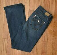 Levi's 526 Women's Jeans Bootcut Dark Wash Distressed Stretch Size 8M