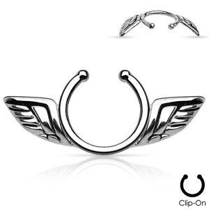 Pair of Angel Wings Design Non-Piercing Nipple Clips