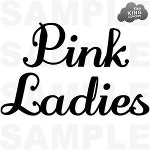 Pink Ladies Iron On T-Shirt Transfer Grease Movie Jacket Sandy Hen Night T Birds