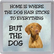 "Hungarian Vizsla Coaster ""Home is Where the Dog Hair Sticks ..."" by Starprint"
