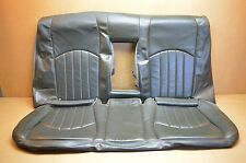 03-06 W211 MB E55 AMG DESIGNO REAR SEAT LEATHER SKIN COVER UPPER & LOWER BLACK