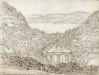 HANNAH SARAH TURNER BRIGHTWEN Small Pen & Ink Drawing TORQUAY DEVON 1865