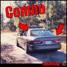 COMBO Spoilers (Fits: Mitsubishi Galant 1994-98) Rear Roof Wing & Trunk Lip