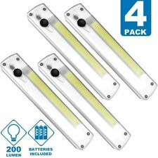4 Pack Cob Super Bright Cordless Emergency LED Night Light (Batteries Included)