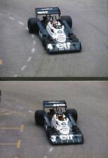 Tyrell P34. Peterson, Depailler. Monaco GP 1977. 2 photo reprints M155