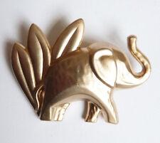 Pendentif Broche éléphant en métal doré bijou elephant