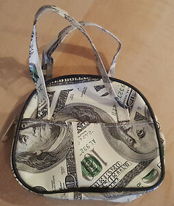 Money Zip Coin Purse w/Side Compartments-$100 Bill