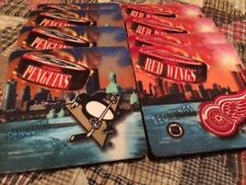 NHL Foam Detroit Red Wings and Pittsburgh Penguins Coasters
