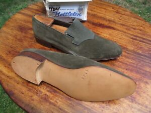 VTG NOS NETTLETON 10.5 D Made in Florence Italy Suede and Exotic