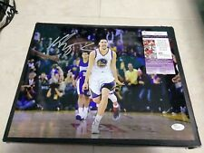 KLAY THOMPSON GOLDEN STATE WARRIORS AUTOGRAPHED SIGNED 11X14 PHOTO W/JSA