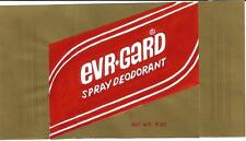 Label,EVR-GARD deodorant-ORIGINAL ART.Ever Guard 1980s Gold,red.ProductsOverTime