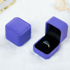 Squre Wedding Velvet Jewelry Display Box Engagement Wedding Earring Ring Case