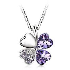 Elegant Lovely Silver Love Heart Cute Short Necklace Multi Colour Present Gift