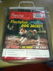 Flectalon Camo Insulated Shower Resistant Dog Jacket with Hi Vis yarn size 51 cm