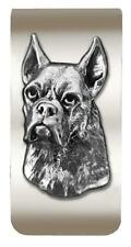 New Antique Pewter Boxer 3D Money Clip Dog -  TOO COOL! Last Ones! sm