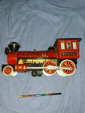 Vintage 1960s Western Special Locomotive. Battery Powered Tin Train. Japan. Used