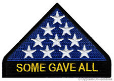 SOME GAVE ALL PATCH KIA IN MEMORIAM iron-on embroidered veteran AMERICAN FLAG