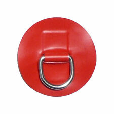 "Inflatable Boat  ""D""ring - Stainless Steel on Red pvc patch -  small"