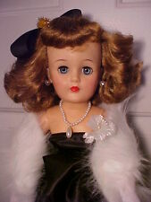 "Vintage 1950s 22"" MISS REVLON DOLL - VT-22 Black Satin Evening Dress w/ Access"