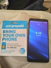 Alcatel Axel 5004R Smartphone Grey At&T Prepaid with Sim Card