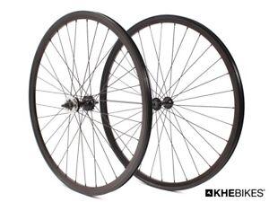 "KHE Fixie Wheelset 700c 28 "" Inches Doppelkammerfelge 32 Hole Black"