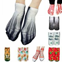 Unisex Socks 3D Printed Multiple Pattern Casual Cool Low Cut Ankle Cotton Socks
