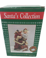 "Vintage 1993 THC  Hand Crafted 7"" Tall Resin Santa Claus in Original Box"