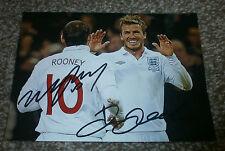 David Beckham & Wayne Rooney - Signed Photo - England / Man United / Madrid