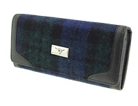 Glen Appin - Harris Tweed 'Bute' Long Purse/Wallet - Black Watch Check/Tartan