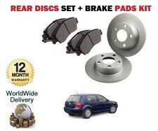 FOR VW VOLKSWAGEN GOLF 4 1999-2004 1.9TDi REAR BRAKE DISCS SET + DISC PADS KIT
