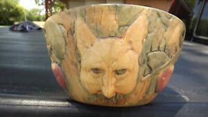 ANTIQUE  ART POTTERY APPLE TREE / FOX GARDEN PLANTER POT - WELLER???