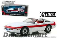 Greenlight 1:18 The A-Team TV Series 1984 Chevrolet Corvette C4 White 13532 Car