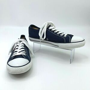 Levi's Sneakers Mens Size 10 Stan Buck Blue Canvas Sneakers Converse-Style Shoes