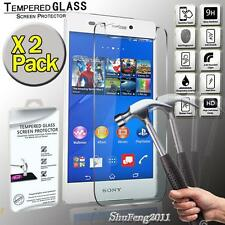 2 Pack Genuine Tempered Glass Film Screen Protector For Sony Xperia Z3v