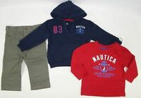 Nautica Baby boys set, 3-Piece Sweater Hoodie, Tee & Pants Set 12 months