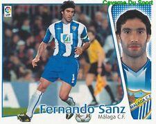 FERNANDO SANZ ESPANA MALAGA.CF CROMO STICKER LIGA ESTE 2005 PANINI