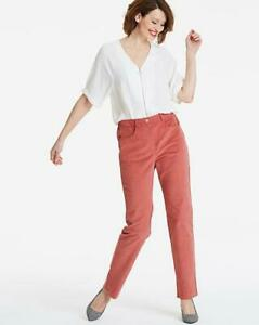 JD Williams Ladies Slim Straight Leg Smart Casual Trousers Cords Size 10 18 24