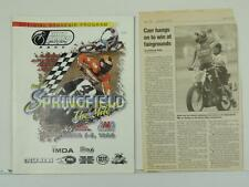 1998 Springfield The Mile Program And Newspaper Cycle News Dirt Track L5675